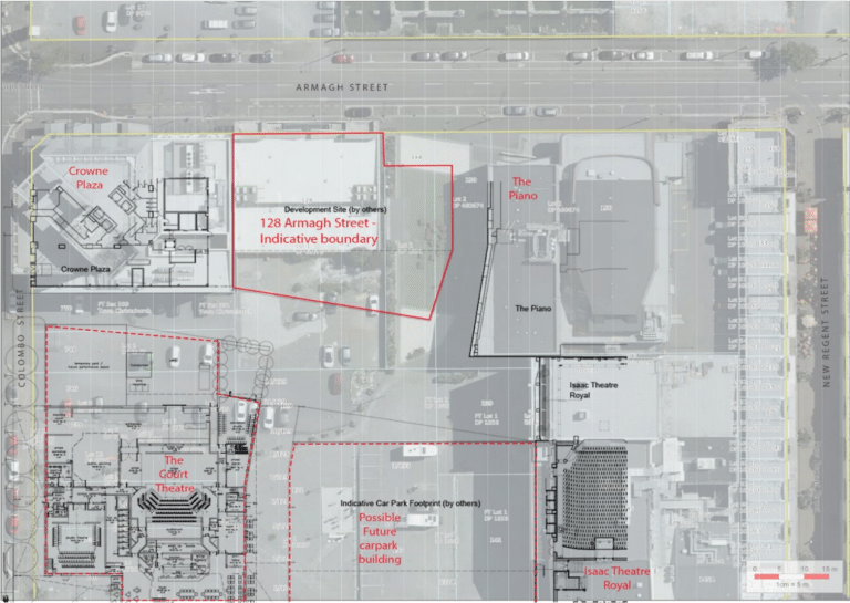 A birds-eye view of the 128 Armagh Street site
